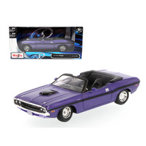 1970 Dodge Challenger R/T Convertible Purple 1/24 Diecast Model Car by Maisto 31 - $29.61
