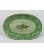 """Gail Pittman Provence Oval Serving Platter Green  14"""" Pristine condition - $67.62"""