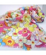 LOUIS VUITTON LV Takashi Murakami Cosmic blossom Pareo Stole Scarf Cotto... - $1,777.80