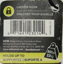 Rubbermaid L31784458PO Fasttrack Ladder Hook Colors Gray Black image 4