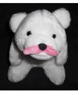Gund Gunderground Snuffles Love Stache Pink White Bear Plush Stuffed Mou... - $12.85