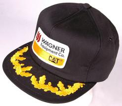 CAT Caterpillar Hat-Wagner Equipment Co-Black-Patch-Leaf Bill-Snapback-F... - $126.21
