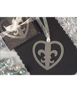 Mark It With Memories Fleur de Lis Within Heart Design Bookmark - 60 Pieces - $55.95