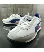 PUMA EASY RIDER SHOES WHITE-TRUE BLUE 363129-02 Adult 10 Brand New Sneak... - $94.05