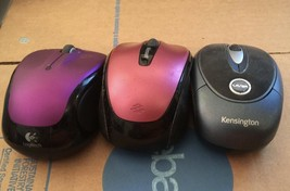 mouse 3; no receivers; Kensington Laser; Microsoft Mini; Logitech M325 - $17.82