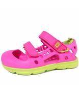 Stride Rite Phibian Sandals sz 9 M Toddler Girls' Neon Pink & Yellow NEW - $16.00