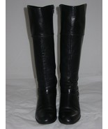 Alfani Womens Biliee Leather Round Toe Knee High Fashion Boots, Black, S... - $12.19