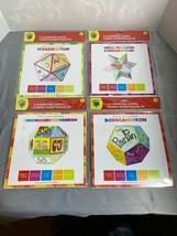Lot Of 4 3-D Geometric Shapes, customizable craft Dodecahedrons and Icos... - $7.11