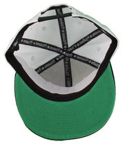 Dissizit! Side Bear White Black Brim Snapback Cap Hat California Star Flag image 7