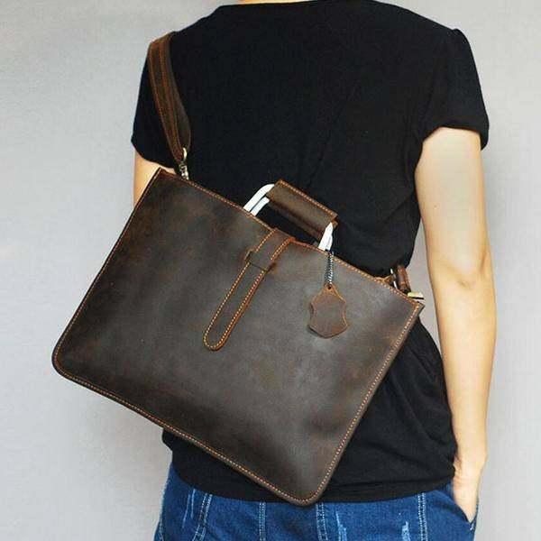 On Sale, Handmade Men Shoulder Bag,Horse Leather Men Tote, Messenger Bag image 3