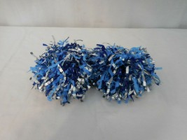 American Girl Doll Blue White Pom Poms From 2008 Cheer Gear Cheerleading Outfit - $9.92
