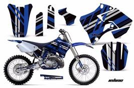 Dirt Bike Graphic Kit Decal Sticker Wrap For Yamaha YZ125 YZ250 96-01 INLINE BLU - $169.95