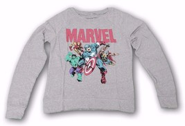 Marvel Comics Avengers Retro Vintage Gray Long Sleeve Tee Graphic T-shir... - £10.54 GBP