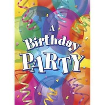 Brilliant Happy Birthday Invitations 8 Per Package Party Supplies NEW - $2.92