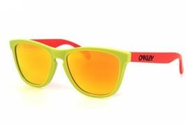 OAKLEY Frogskins Limited Edition Aquatique Lagoon/Fire Iridium Lens Sunglasses - $69.75