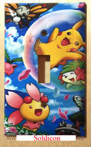 Pokemon Happy Pikachu & Friends Light Switch Outlet Wall Cover Plate Home Decor image 1