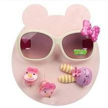Children Hair Suit Sunglasses Bow-knot Style Hairpins and Hair Circle, B... - $18.66