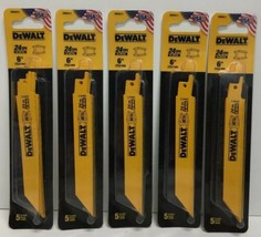 "DEWALT DW4813 6"" 24-TPI  Bi-Metal Reciprocating Saw Blade Pack of 5 - $49.49"
