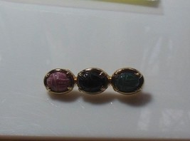 Multi-color Scarab Bar Brooch/Pin - $15.83