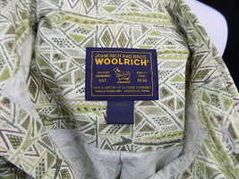 A10 Men's Woolrich Short Sleeve Button Front 100% Cotton Green Shirt L L... - $12.13