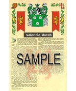 Valencia Coat of Arms (Armorial Name History) Family Crest 11x17 Print S... - $18.99
