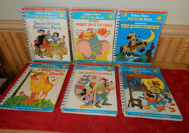 Fisher Price Talk To Me Player Books Lot of 6 #1, 2, 3, 4, 5 & 7 Walt Disney - $48.98