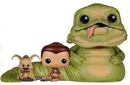 Funko Pop Star Wars Jabba, Leia & Salacious B. Crumb Exclusive Vinyl NEW  - $158.95