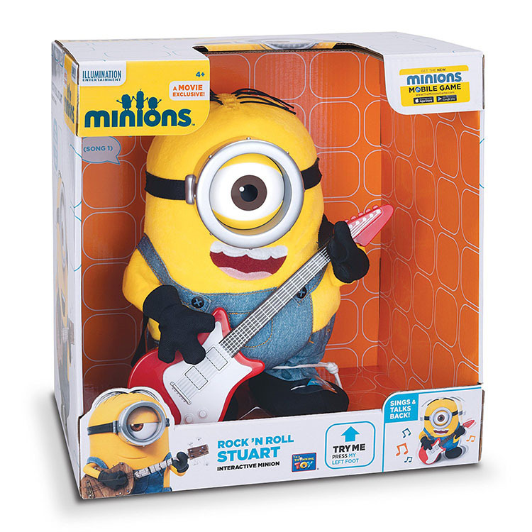 Primary image for Disney Pixar Thinkway Toys Despicable Me Minion Rock 'n Roll Stuart with Guitar