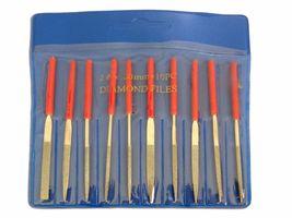 """10pc 4"""" (100mm) Mini Diamond Needle File Set Ceramics Tile Glass US FAST... - $17.90"""