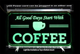 Personalized Coffee Cup LED Sign - Gift for Mom - Restaurant sign - $94.05+