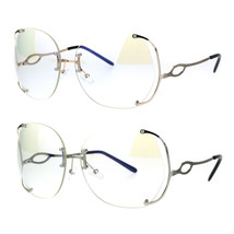Womens Oversize Clear Lens Rimless Butterfly Diva Granny Eye Glasses - $12.95