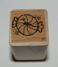 Peppermint Candy Rubber Stamp Close To My Heart Wood Mounted Mint Food - $3.95