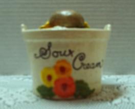 Vintage Sour Cream Bowl With Lid // Sour Cream Baked Potatoe Bucket Kitsch - $10.99