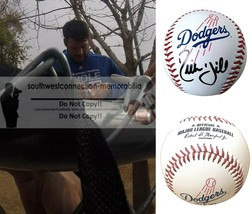 Rich Hill LA Los Angeles Dodgers Signed Autographed Team Logo Baseball P... - $87.28