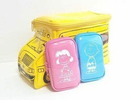 October 2020 Appendix Snoopy Bus Pouch & Character Mini Pouch set of 3 - $23.00