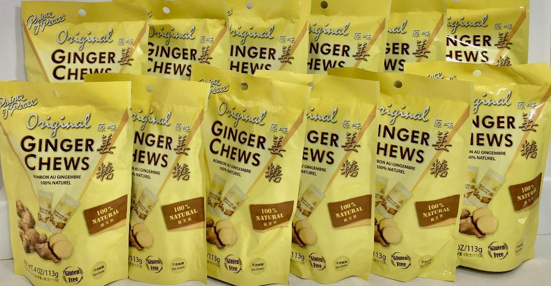 Prince of Peace Ginger Chews Candy Original ( 100% Natural ) 4 oz ( Pack of 12 ) - $34.64
