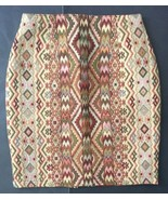 Vtg Mag Deleine Seventies Style Pencil Skirt Fits 0 2 Funky Pattern Retro - $34.64