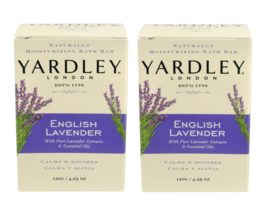 Yardley English Pure Lavender Extracts & Essential Oils Moisturizing Bath 2 Bars - $4.62