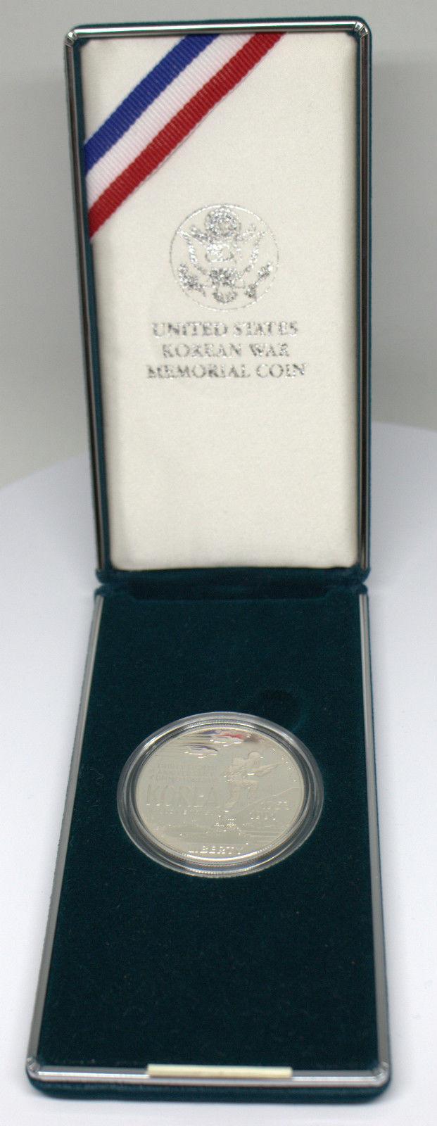 1991 D KOREAN WAR MEMORIAL 90% SILVER PROOF COIN  WITH BOX & COA #DBW