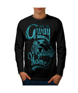 Take Away Home Holiday Tee Travel Bug Men Long Sleeve T-shirt - $14.99