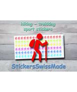 planner stickers    hiking - trekking    sport    rainbow colored sticke... - $3.00+