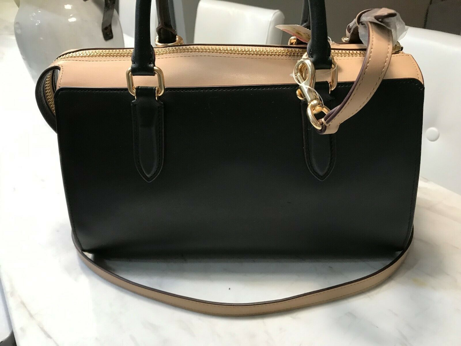 COACH Bond Bag Convertible Calf Leather Colorblock Satchel #39288 Msrp 395 NWD