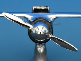 Art Deco Streamline Dollin Diecasters Co. Nickel Plated Airplane Lighter  image 4