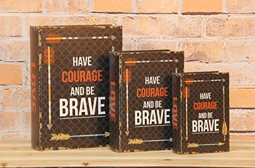 "Primary image for ""Have Courage And Be Brave"" Decorative Book Boxes Diversion Safe Set of 3"