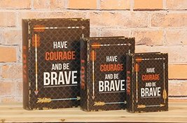"""Have Courage And Be Brave"" Decorative Book Boxes Diversion Safe Set of 3 - $24.74"