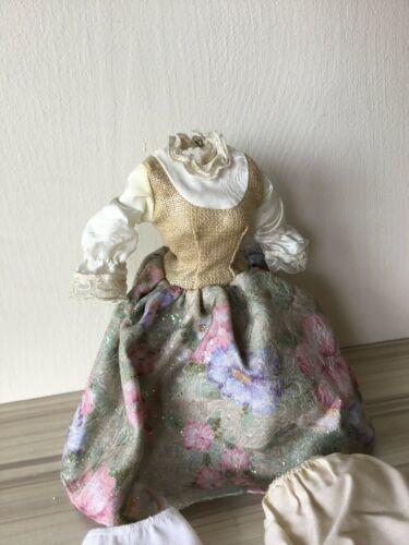BARBIE DOLL SOUND OF MUSIC MARIA FLORAL SKIRT VEST BLOUSE Dress Stockings Slip T image 4