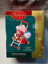 Carlton Cards Heirloom Ornament Collection My First Christmas 2005 Teddy... - $7.76