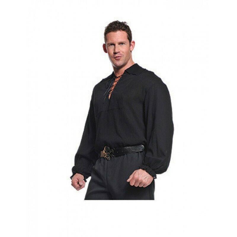 Underwraps Pirata Camicia Pizzo Anteriore Mare Oceano da Uomo Adulto Halloween
