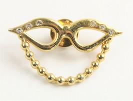 VINTAGE Jewelry 80'S FRENCH EYEGLASS HOLDER BROOCH - $35.00