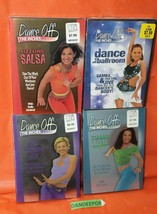 4 Dance Off The Inches DVD Movies Fat Burning Sizzle Salsa, Tummy Tone, Ballroom - $39.59